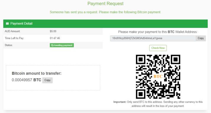 Payment Request - Public Link