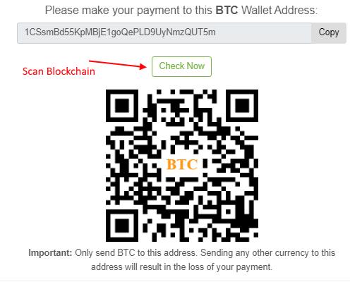 Scan blockchain